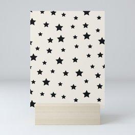 Star Pattern - Black & White Mini Art Print