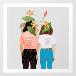 Motto #illustration #concept #painting Art Print