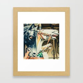 And I ride that horse Framed Art Print