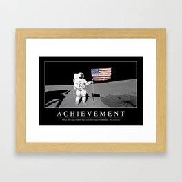 Achievement: Inspirational Quote and Motivational Poster Framed Art Print