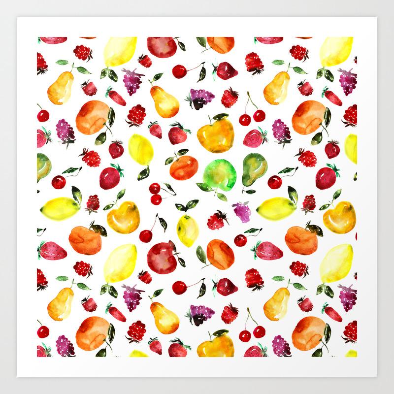 Tutti Frutti Art Print By Katerinaizotova Society6