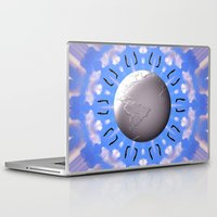 airplanes Laptop & iPad Skins featuring Crazy Airplanes by Art-Motiva