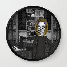 Lenore And The Raven Nevermore Wall Clock