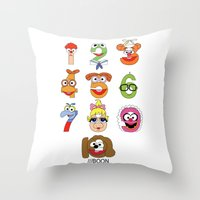 muppet Throw Pillows featuring Muppet Babies Numbers by Mike Boon