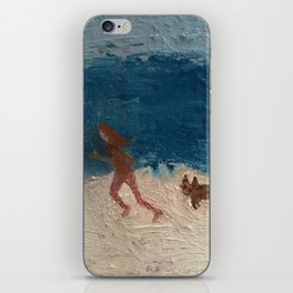 jogger by the sea iPhone Skin