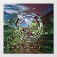 chvrches Canvas Prints featuring Chvrches The Bones of what you believe by whatdesigns