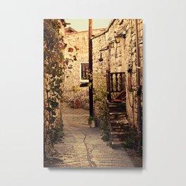 Omodos Cyprus Alley Metal Print