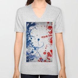 FRENCH--Flag  [FRANCE] Unisex V-Neck