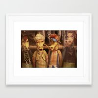 dragons Framed Art Prints featuring DRAGONS by Logram