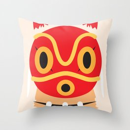 Princess Mononoke Block Throw Pillow