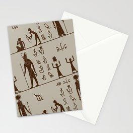 Egypt pattern pharao pyramid hyroglyphs Stationery Cards