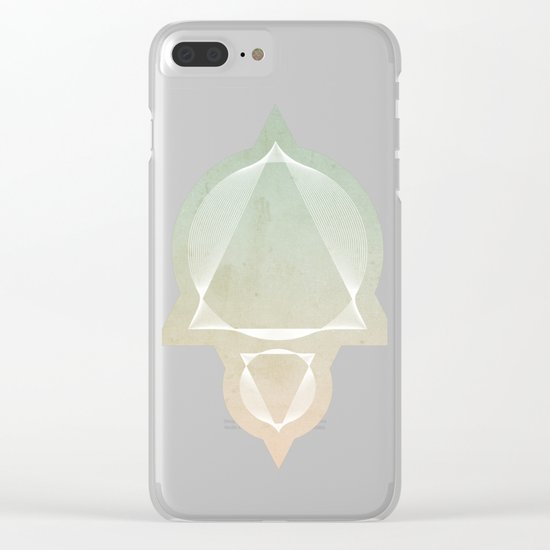 North and South - abstract scene Clear iPhone Case