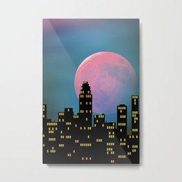 Super Moon over the City Metal Print