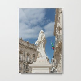 Statue of St. Peter Ortigia Syracuse Metal Print