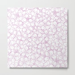 Cherry Blossom Pink Outline - In Memory of Mackenzie Metal Print