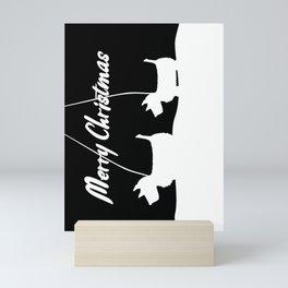 Westie White Christmas Mini Art Print