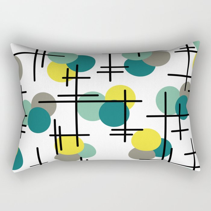 Atomic Age Molecules Rectangular Pillow