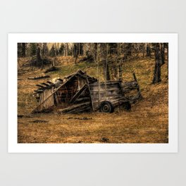 Visions Of The Past - Rustic Shed Art Print