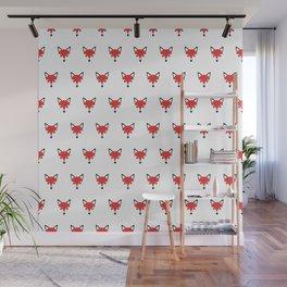 Funky Cute Fox Head Pattern Wall Mural