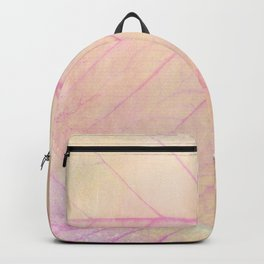 Pink Leaf Abstract Backpack