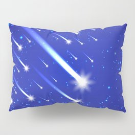 Space background with stars and comets Pillow Sham