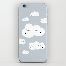 clouds and dots iPhone Skin