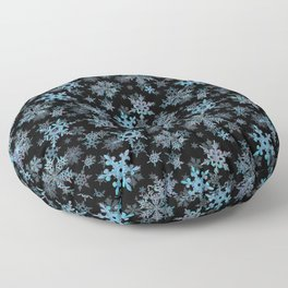 """""""Embroidered"""" Snowflakes Floor Pillow"""