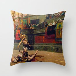 Jean-Leon Gerome - Pollice Verso - Digital Remastered Edition Throw Pillow