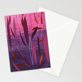 Pretty fall in Plum  Stationery Cards