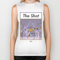lakers Biker Tanks featuring The Shot Series, Derek Fisher by Dyllin Shane
