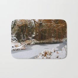 The Old Mill Stream in Winter Bath Mat