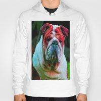 bulldog Hoodies featuring Bulldog by 13th Moon Social Club