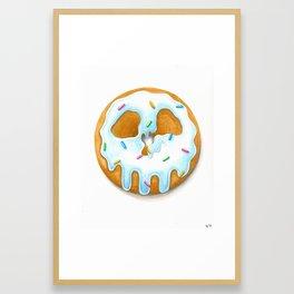 Death & Donuts (blue) Gerahmter Kunstdruck