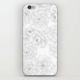Peony Flower Pattern iPhone Skin