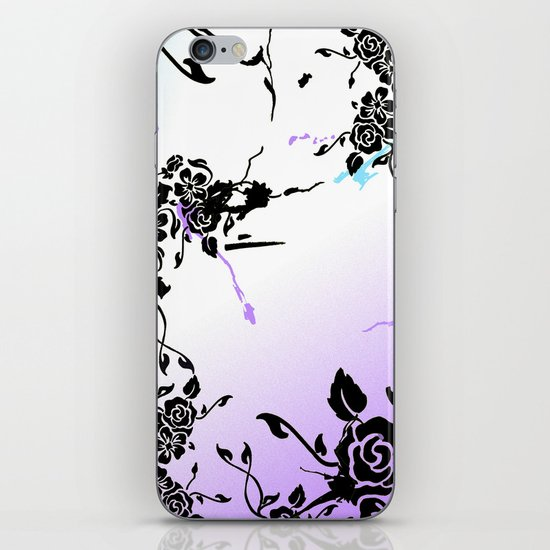 Punkoco Floral Blues iPhone & iPod Skin