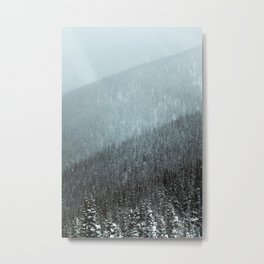 Snowy Mountain Hillsides Metal Print