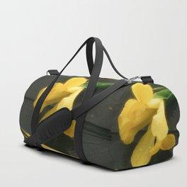 Flowers on Slate Duffle Bag