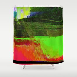 Memories of Green Shower Curtain