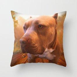 ARTHUR (shelter pup) Throw Pillow