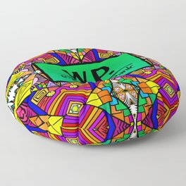 WP - Widespread Panic - Psychedelic Pattern 1 Floor Pillow