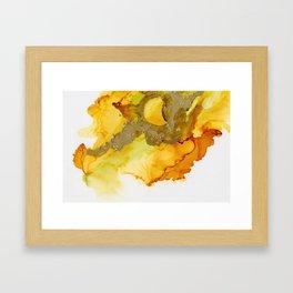 Gold Abstract 1 Framed Art Print