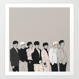 iKON Goodbye Road Drawing Art Print