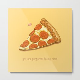Pizza Valentine Metal Print