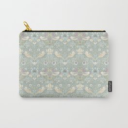 William Morris Pastel Strawberry Thief Pattern Carry-All Pouch