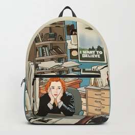 Dana Scully sit to the Fox Mulder's office Backpack