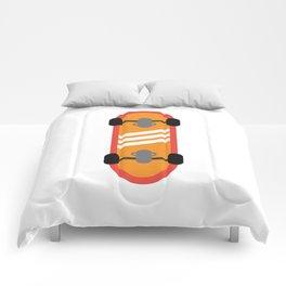 Orange Skateboard Comforters