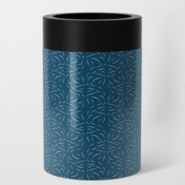 Swirled - Deep Teal Can Cooler