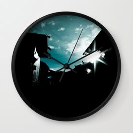 Blue in China Wall Clock