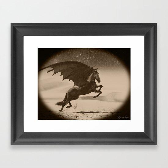 Dark Victorian Portrait Series: A Wonderful Nightmare Framed Art Print