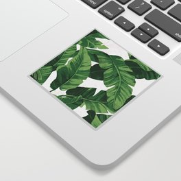 Tropical banana leaves IV Sticker
